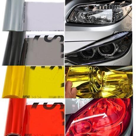自動車 ヘッドライト テールライト ランプ 光着色 フィルムステッカー BMW アウディ メルセデス ベンツ