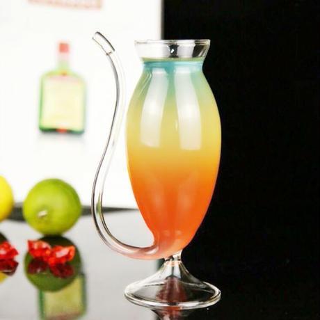 2ピース ゴブレットガラス パーティー ナイトバー ワインガラス ジュースガラス