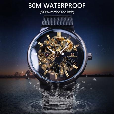 Forsining ダイヤル ユニセックスデザイン 防水腕時計 高級ブランド スケルトン腕時計