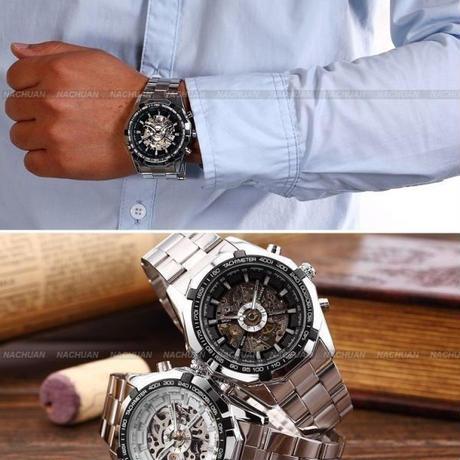 ed4defe496 ... メンズ腕時計 トップ高級ブランド ファッション スケルトン時計 自動機械式時計 文字盤のカラー ...