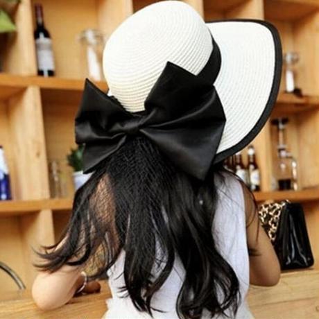 Jspoir Melodiz リボン 女の子 夏帽子 女の子 麦わら帽子 ビーチ帽子
