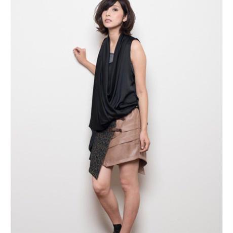 レオパード柄巻スカート