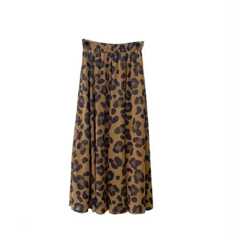 レオパード柄リバーシブルスカート