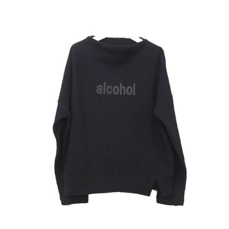 alcoholプリントリブニット