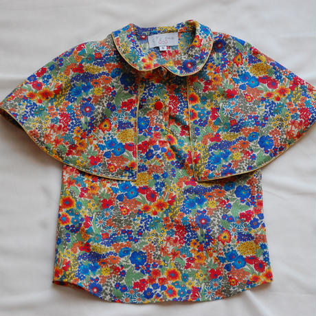 Liberty cape shirt/Flower(S 100cm)