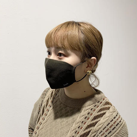 冬限定 快適ニットマスク(STL036 KHAKI)