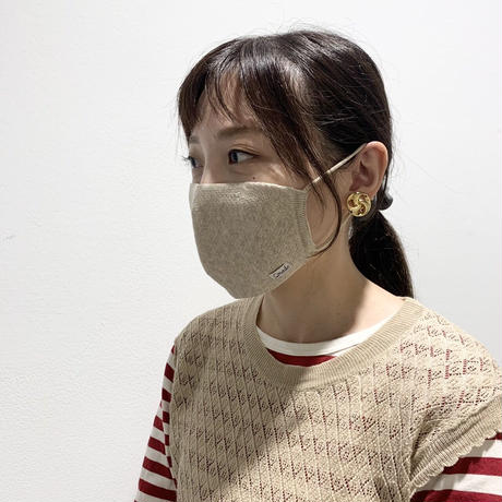 快適ニットマスク(STL036 BEIGE)