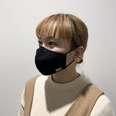 小花柄レースマスク(STL074 NAVY)