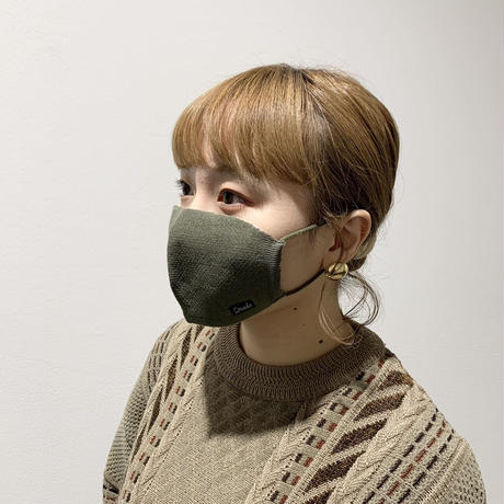 冬限定 快適ニットマスク(STL036 L.KHAKI)
