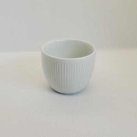キムサンイン 白磁 しのぎカップ