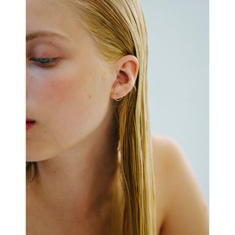 Saskia Diez/WIRE EARCUFF DOUBLE/Gold