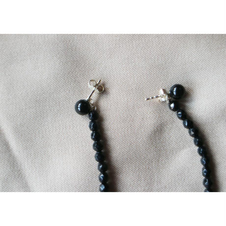 Saskia Diez/Drop Black Earrings Onyx