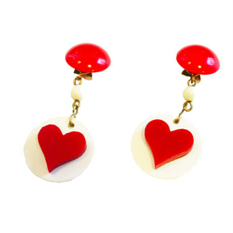 BAKELITE Heart earrings