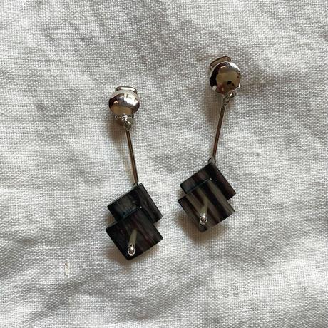 Earrings Silver Black