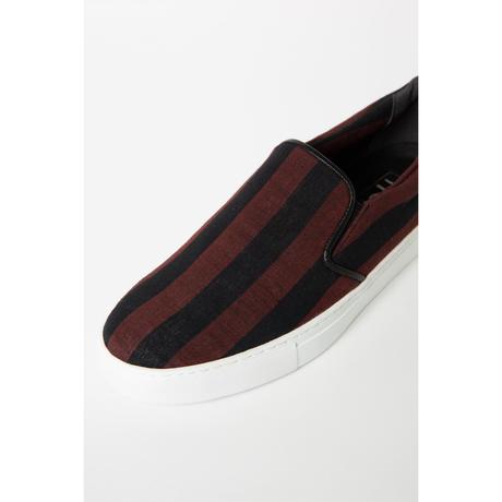 38 CMS / AC03 : 会津木綿 おさむ縞sneakers