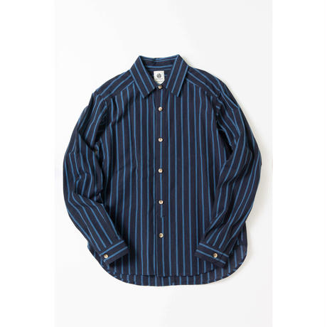 38 CMS / SH03 : 会津木綿 大名縞SHIRT