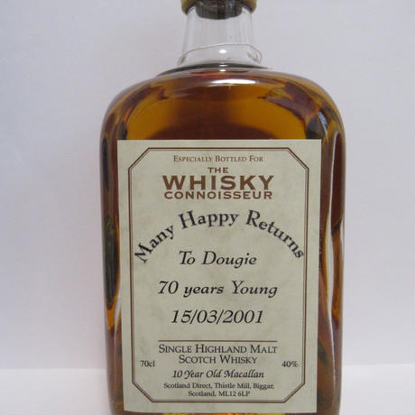 Macallan 10 Year Old The Whisky Connoisseur - Personalised Label