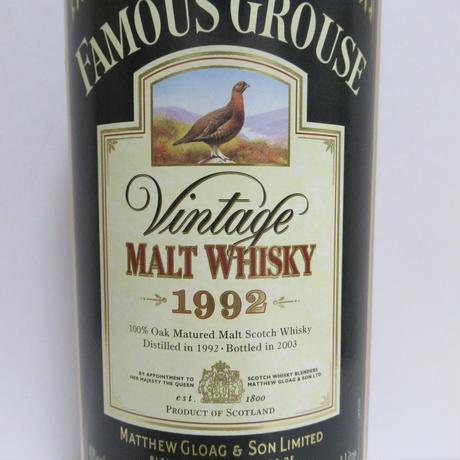ファイマスグラウス Famous Grouse 1992 Vintage Malt Whisky 40% 1L