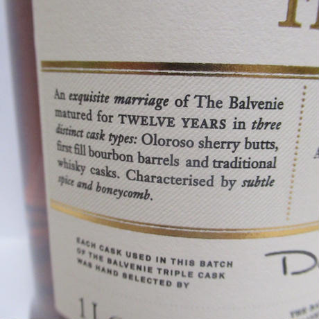 Balvenie - 12 Year Old (Triple Cask) 1 Litre