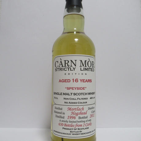 Mortlach 1996 16 Year Carn Mor Strictly Limited