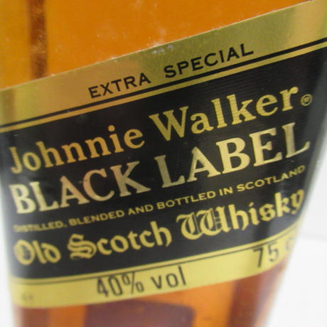 JOHNNIE WALKER BLACK LABEL 12 YEAR OLD 1980'S