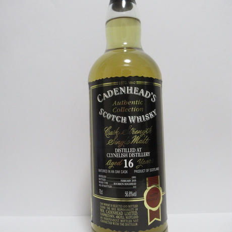 Clynelish 16year 1993-2010 from Cadenhead's