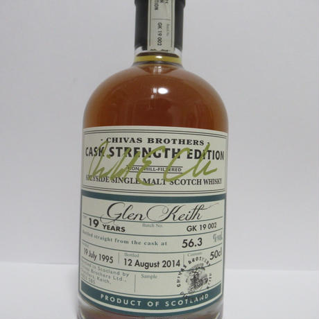 Glen Keith 1995 19 Year Chivas Brothers Cask Strength Edition *500ml