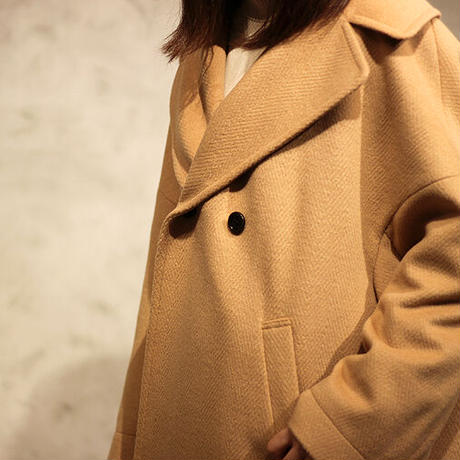trois/トロア WOOLLETへリンボンハーフコート T206-84017