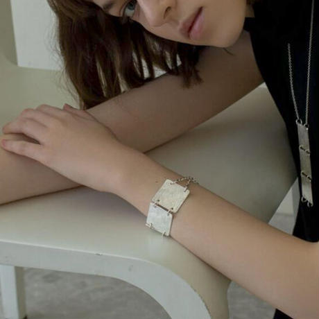 Sea'ds mara/シーズマーラ  Square plate bracelet/ 21A1-05