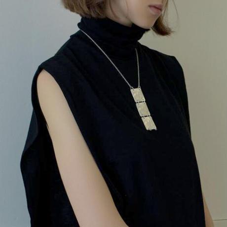 Sea'ds mara/シーズマーラ  Square plate necklace /21A1-04