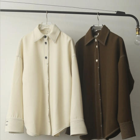Stitch Wool Shirts/TODAYFUL / トゥデイフル 12020413