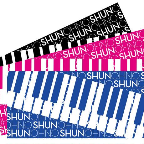 SHUN OHNOタオル(ブラック、ピンク、ブルー)