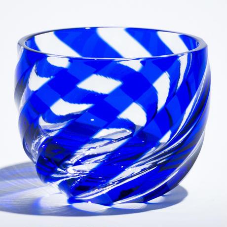 渦 ぐい呑 -瑠璃-