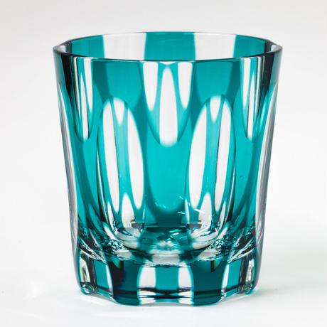 紬 ロックグラス -緑-