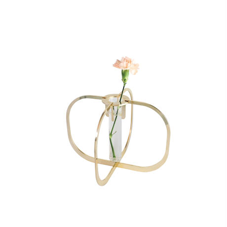 One flower vase - Gold 24K -