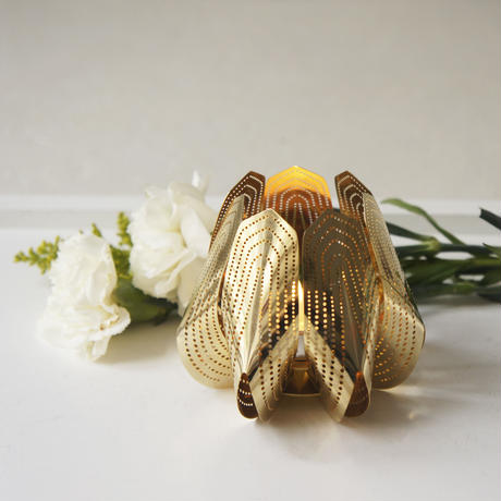 Blossom tealight candle holder - Gold24k -