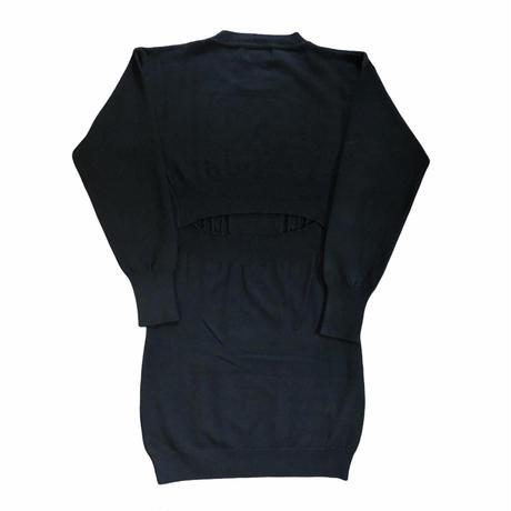 black gauge knit onepiece