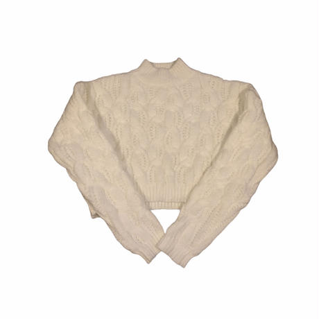 cable white knit