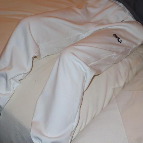 loose white sweat pants ※unisex aitem