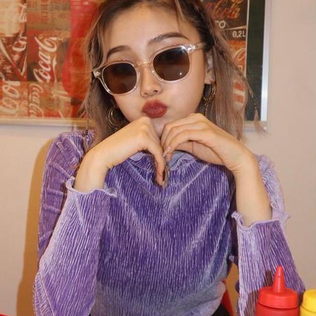 purple long sleeve shirt