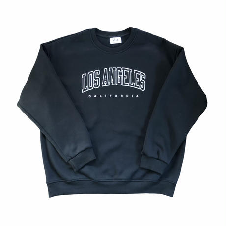los angels black sweat  ※unisex item