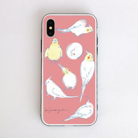 iPhoneケース 〈ピンク〉強化ガラス仕上げ