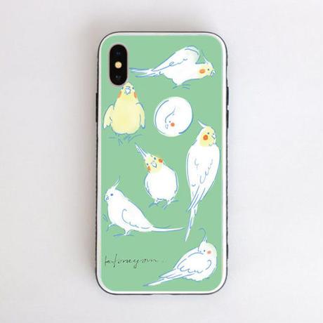 iPhoneケース 〈グリーン〉強化ガラス仕上げ