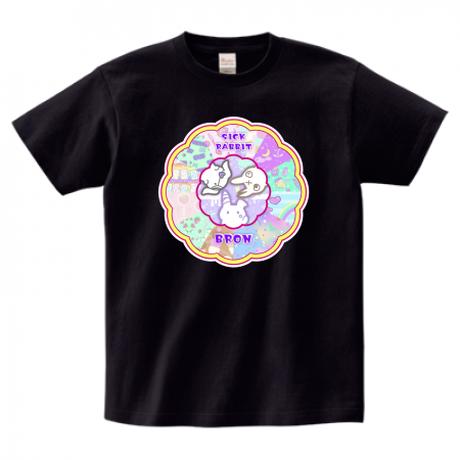 ファンシーラビットTシャツ黒