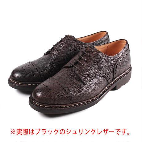 【 パターンオーダー※受注生産品 】CHN7301E-パンチドキャップトゥ /  ブラック Shrink leather | 42ND ROYAL HIGHLAND Explorer