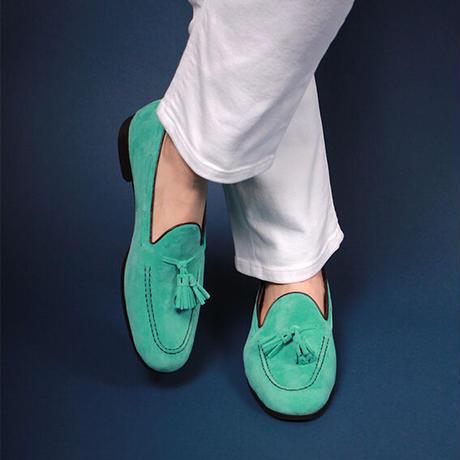 【スウェードカラーオーダー】タッセルローファー / 12.Turquoise Suede   42ND ROYAL HIGHLAND transfer