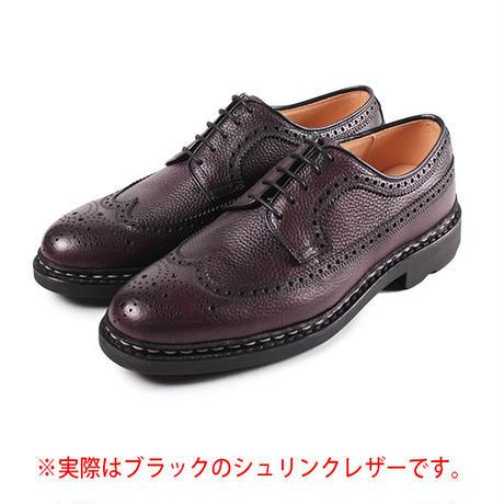 【 パターンオーダー※受注生産品 】CHN6501E-ウィングチップ/ ブラック Shrink leather | 42ND ROYAL HIGHLAND Explorer
