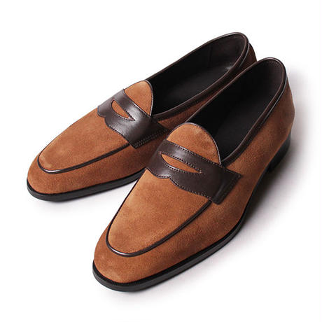【 別冊2nd 『ローファー好きのための本』掲載 】CS9113S-13 / Tan Suede × D.Brown Smooth | 42ND ROYAL HIGHLAND transfer