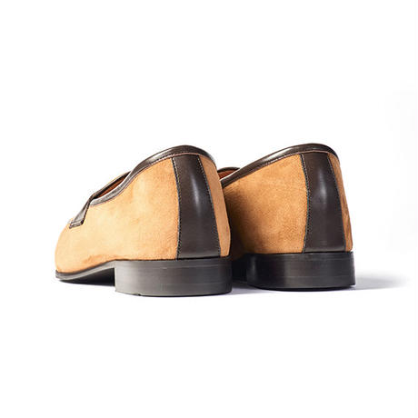 CS0001S-15 / Beige Sheep Suede × D.Brown Calf | 42ND ROYAL HIGHLAND transfer