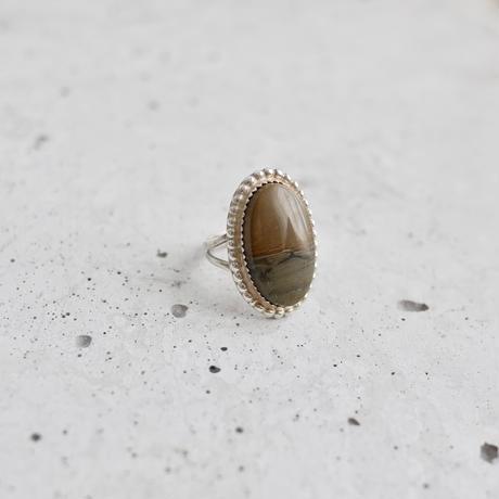 Found vintage jasper ring